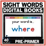 Pre Primer Sight Words for Google Slides™