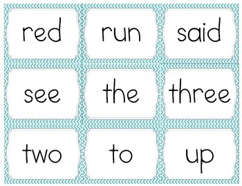 Pre Primer Sight-word Cards