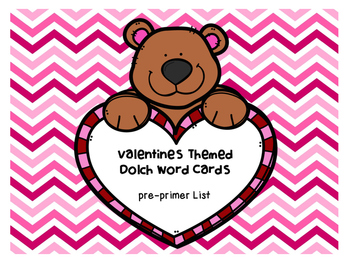 Pre-Primer Valentines Day Dolch Word Game