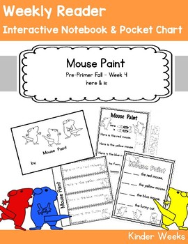 Pre-Primer - Week 4 - Mouse Count - Reader, Interactive Notebook, Pocket Chart