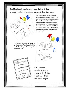 Pre-Primer - Week 4 - Mouse Count - Reader, Interactive Notebook, Pocket Chart
