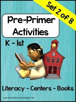 Pre-Primer Word Activities, Set 2 of 8
