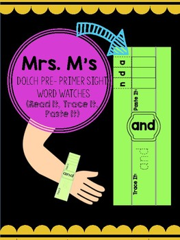 Pre Primer Word Watches