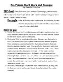 Pre Primer Word Work, Discrete Trial Training, IEP Goal, and Progress Monitoring