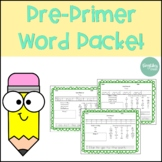 Pre Primer Word Work Packet