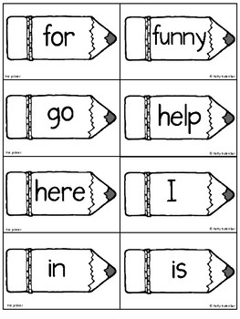 Pre - Primer Words Pack - Lists, Sight Words, and Phrases