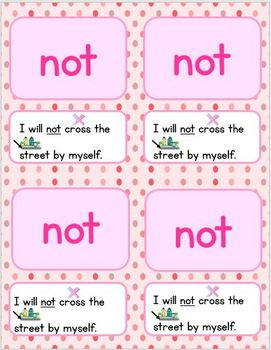 Pre-Primer Words and Sentences Practice Cards