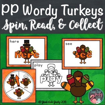 Pre-Primer Wordy Turkeys Sight Word Game