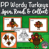 Pre-Primer Wordy Turkeys Sight Word Game