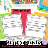 Sentence Puzzles {Pre-Primer and Primer Edition}