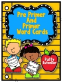 Pre Primer and Primer Word Cards