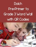 Pre-Primer to Grade 3 QR Code Word Wall
