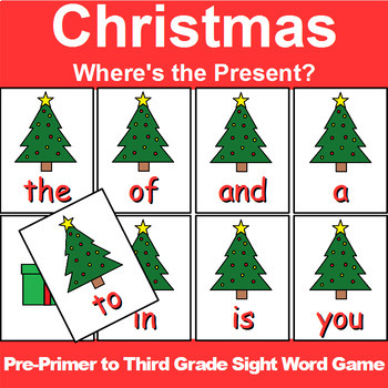 Pre-Primer to Third Grade Sight Word Game Christmas Edition