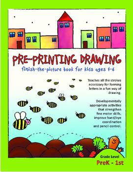 FREE Pre-Printing Drawing Activity Sheets; Pre-K, TK, Kind