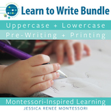 Pre-Writing + Printing Worksheets, Booklets, and Posters for Upper + Lowercase