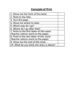 Pre-Reader Assessment