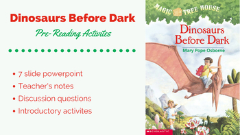 Pre-Reading Activities for Dinosaurs Before Dark