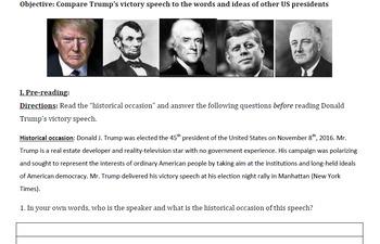 Pre-Reading Activity: Rhetorical Analysis of Donald Trump's Victory Speech