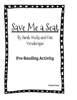 Pre-Reading Activity for Save Me a Seat