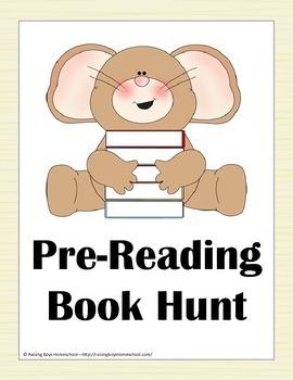 Pre Reading Book Hunt