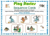 Pre-Reading Logic Sequence Cards Pack 2- Play Stories