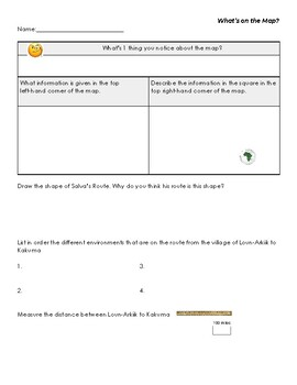 """Pre-Reading Map Activity for """"A Long Walk to Water"""""""