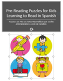Pre-Reading Puzzles for Kids Learning to Read in Spanish