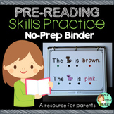 Pre-Reading Skills Practice No-Prep Binder