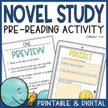 Novel Study Pre-Reading Stations