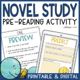 Novel Study Pre-Reading Activity and Questions