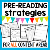 Pre-Reading Strategies for ANY content area, novel, or textbook