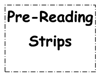 Pre-Reading Strips