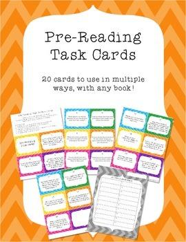 Pre-Reading Task Cards
