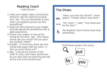 Pre-Reading story and questions
