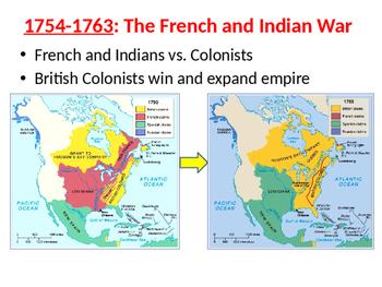 Pre-Revolutionary War Events Timeline- PowerPoint Organizer Notes