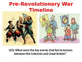 Pre-Revolutionary War Events Timeline- PowerPoint Organizer Notes