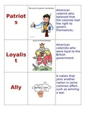 Pre-Revolutionary War- Vocabulary Cards