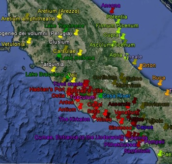 Pre-Roman Beginnings - Italian archaeological sites for Google Earth