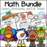 Kindergarten Math Centers, Exit Tickets and Printables Growing Bundle
