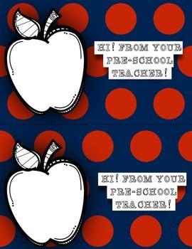 Pre-School Back to School Postcards