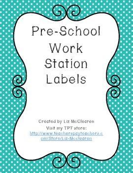 Pre-School Center Labels Colorful Dots