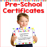 Pre-School Completion Certificates