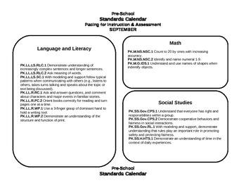 Pre-School Curriculum Map Ohio
