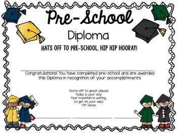 Pre-School Diplomas