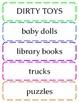 Pre-School / Elementary School Classroom Labels