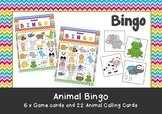 Pre-School & Kindergarten Animal Bingo Game Printable