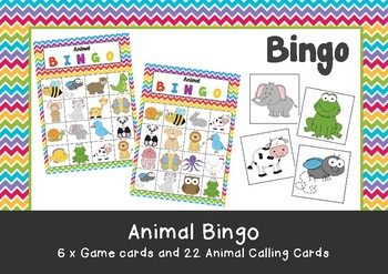 Pre-School & Kindergarten Animal Bingo Game Printable
