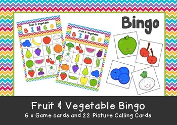 Image result for fruit and veggie bingo