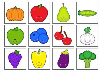 graphic relating to Printable Vegetables titled Pre-College or university Kindergarten Fruit Vegetable Bingo Sport Printable