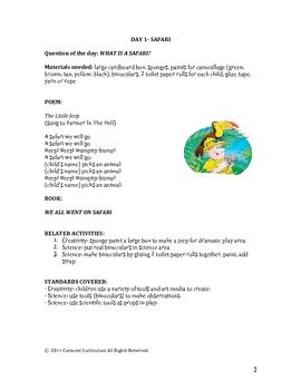 Pre-School Lesson Plans For African Safari Unit